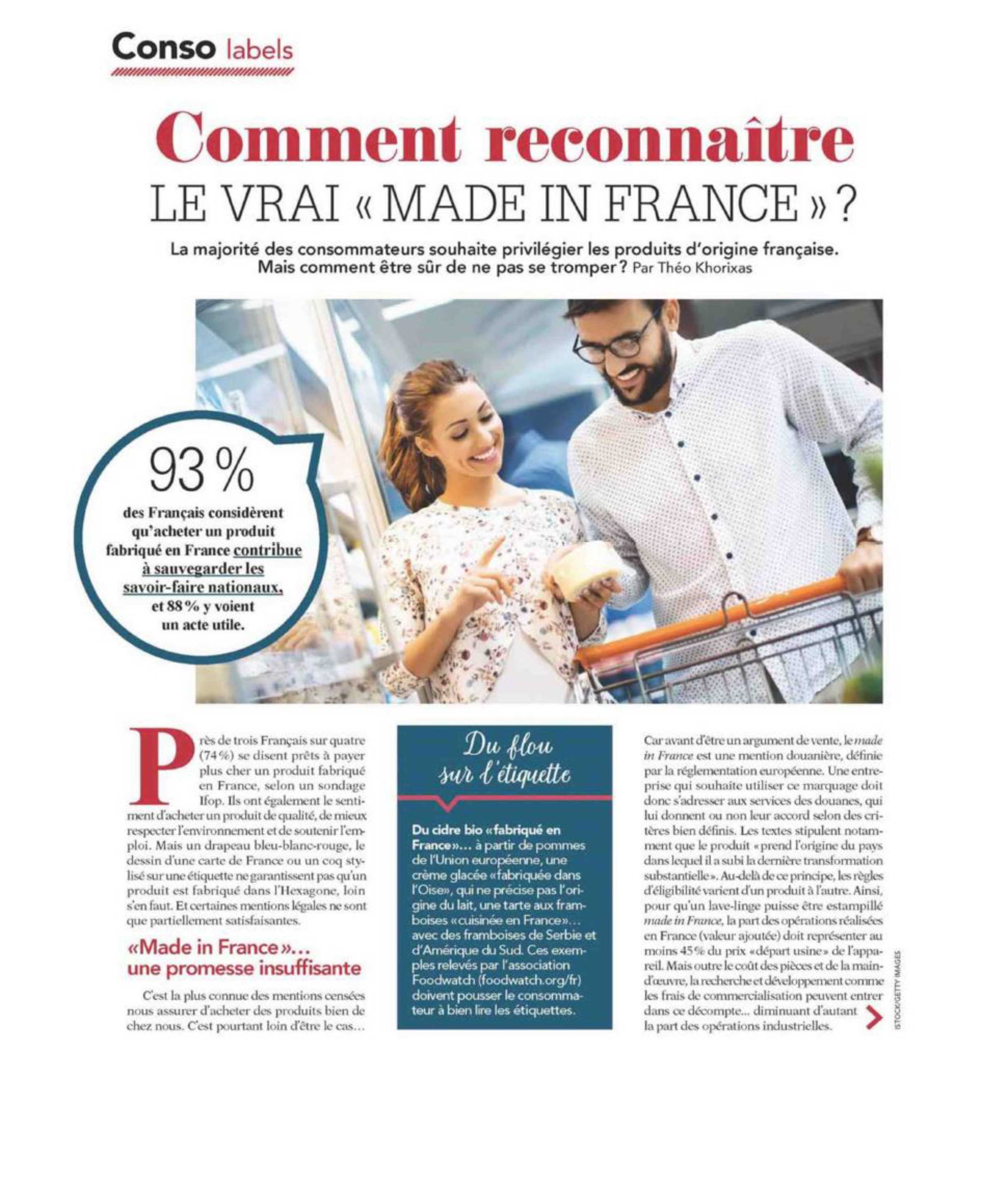 """Comment reconnaître le vrai """"made in France"""" ?"""